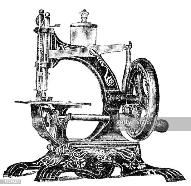 Illustrations et dessins anim s de machine coudre ancienne getty images - Machine a coudre dessin ...