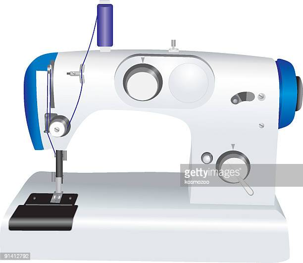 sewing machine - sewing machine stock illustrations, clip art, cartoons, & icons