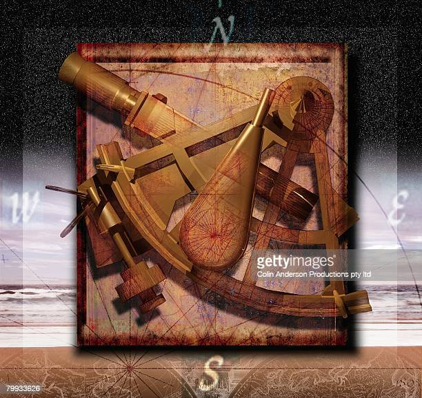 Sextant and Overlaying Compass