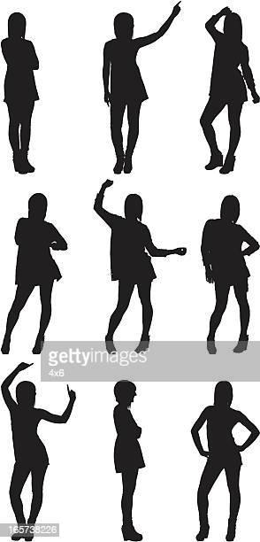 Sexy women posing in short skirt