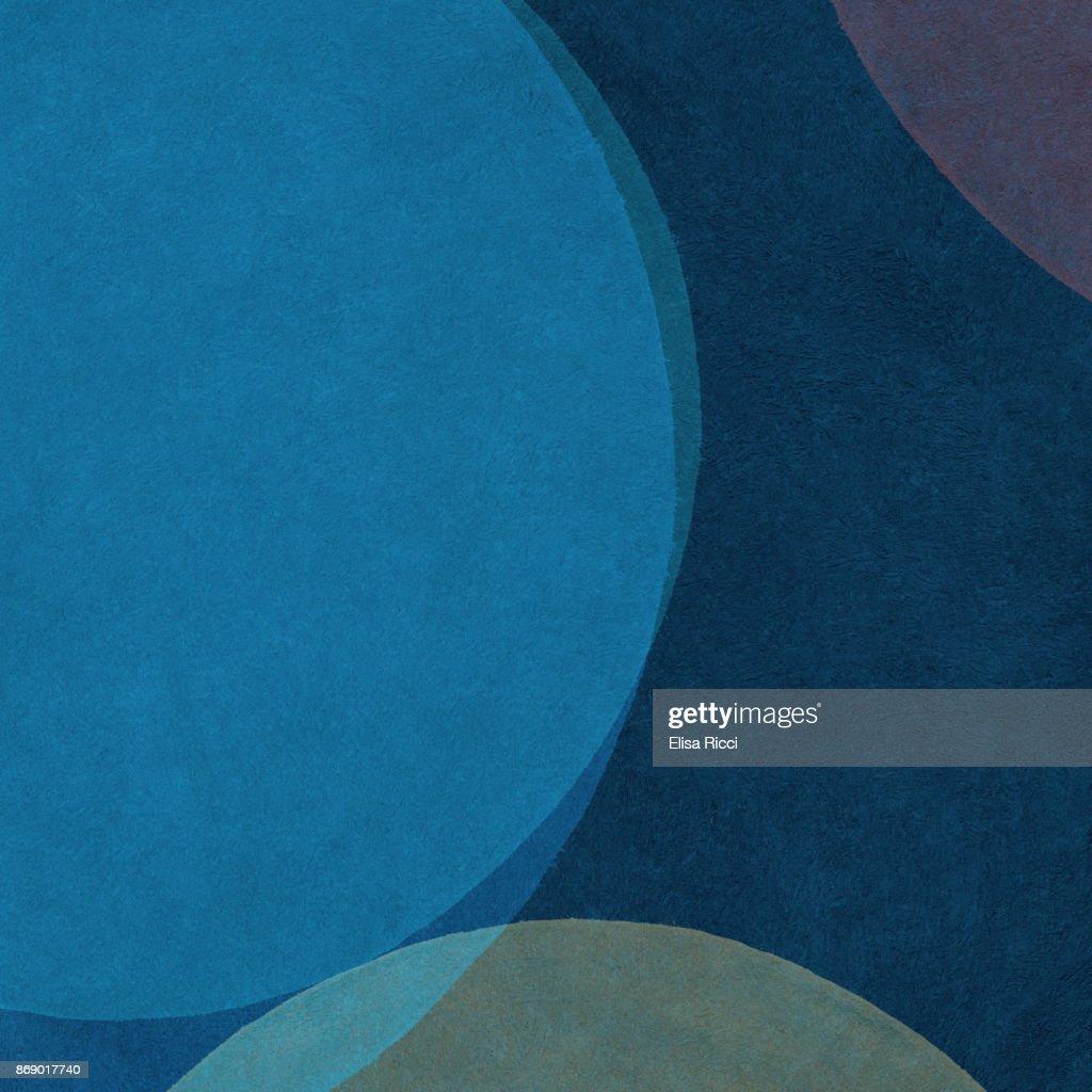 Sfondo Astratto Dipinto A Mano Con Forme Curvilinee Colorate Nei