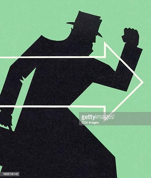 Shadow of a Man Hurrying