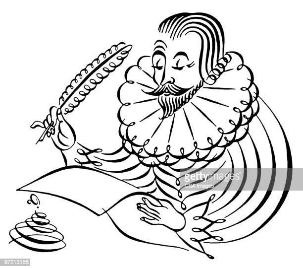 shakespeare - william shakespeare stock illustrations, clip art, cartoons, & icons
