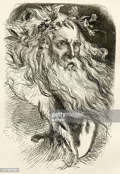 shakespeare king lear engraving - classical theater stock illustrations, clip art, cartoons, & icons