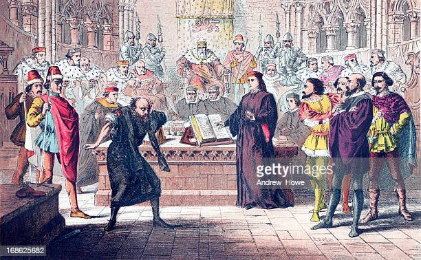 shakespeare - merchant of venice - william shakespeare stock illustrations, clip art, cartoons, & icons