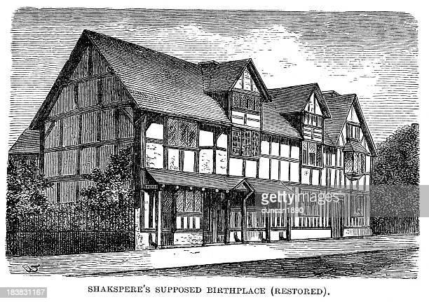 シェークスピアの生誕地 - ストラトフォード・アポン・エイボン点のイラスト素材/クリップアート素材/マンガ素材/アイコン素材
