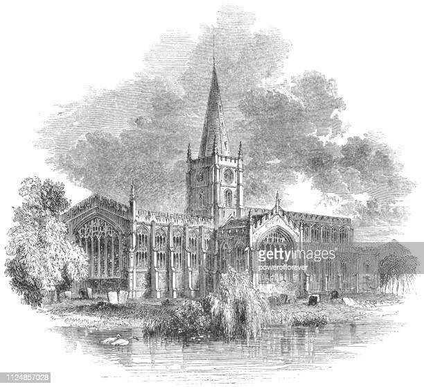Shakespeare's Church in Stratford-upon-Avon, England - 17th Century