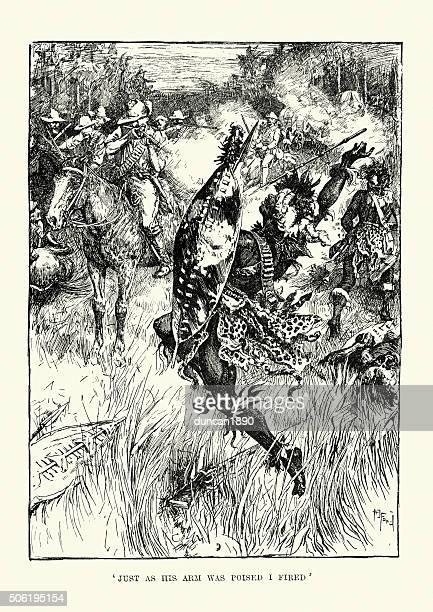 ilustrações, clipart, desenhos animados e ícones de shangani patrol e grandes wilson's last fique de pé - zimbabwe