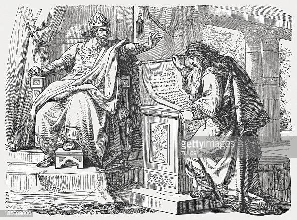 ilustraciones, imágenes clip art, dibujos animados e iconos de stock de shaphan antes josiah (2 narra 34, 18 a 19 - personas leyendo la biblia