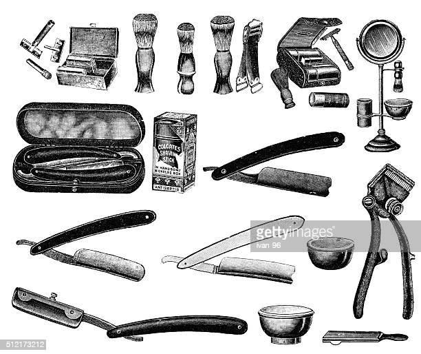 shaving accessories - razor blade stock illustrations, clip art, cartoons, & icons