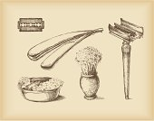 shaving objects -drawing