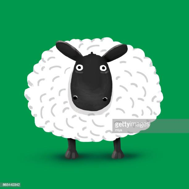 sheep cartoon - illustration - sheep stock illustrations, clip art, cartoons, & icons
