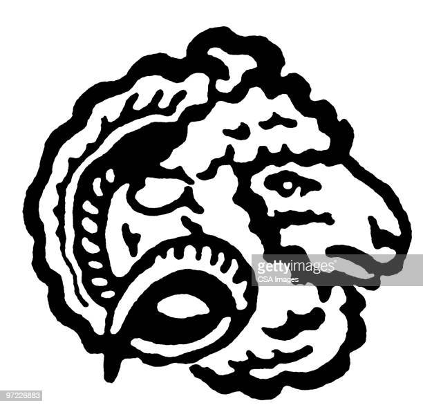 sheep - ram animal stock illustrations, clip art, cartoons, & icons