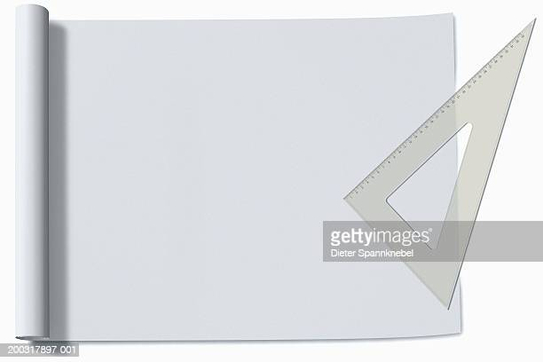 Sheet of paper and right-angle protractor (Digital)