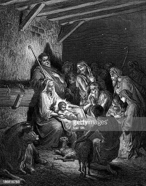 ilustrações de stock, clip art, desenhos animados e ícones de shepherds no nativity - jesus cristo