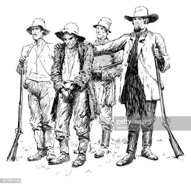 Sheriff and deputies bringing criminal to town