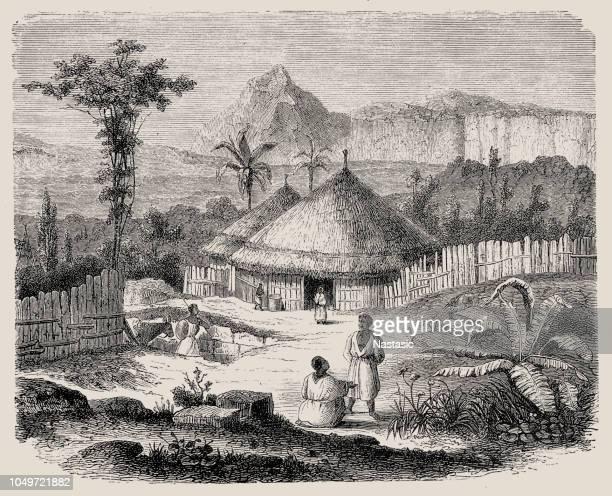 ilustrações, clipart, desenhos animados e ícones de shewan pessoas, no leste da áfrica (aviso madeira antiga) - ethiopia