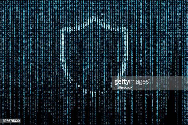 Shield matrix background
