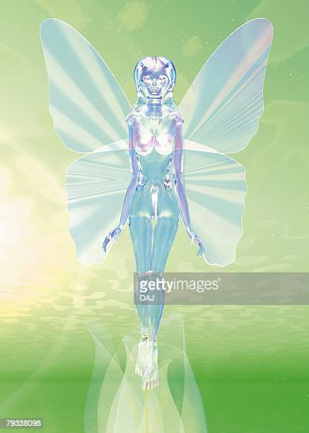 Shining Angel, CG, 3D, Illustration, Front View, Lens Flare