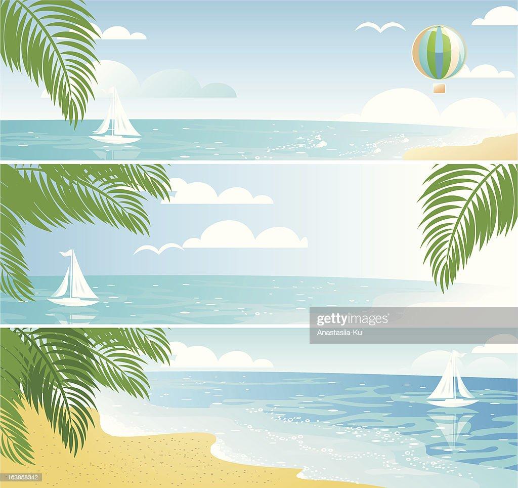 shiny beach banners