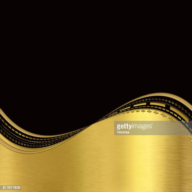 Shiny gold and black abstract background