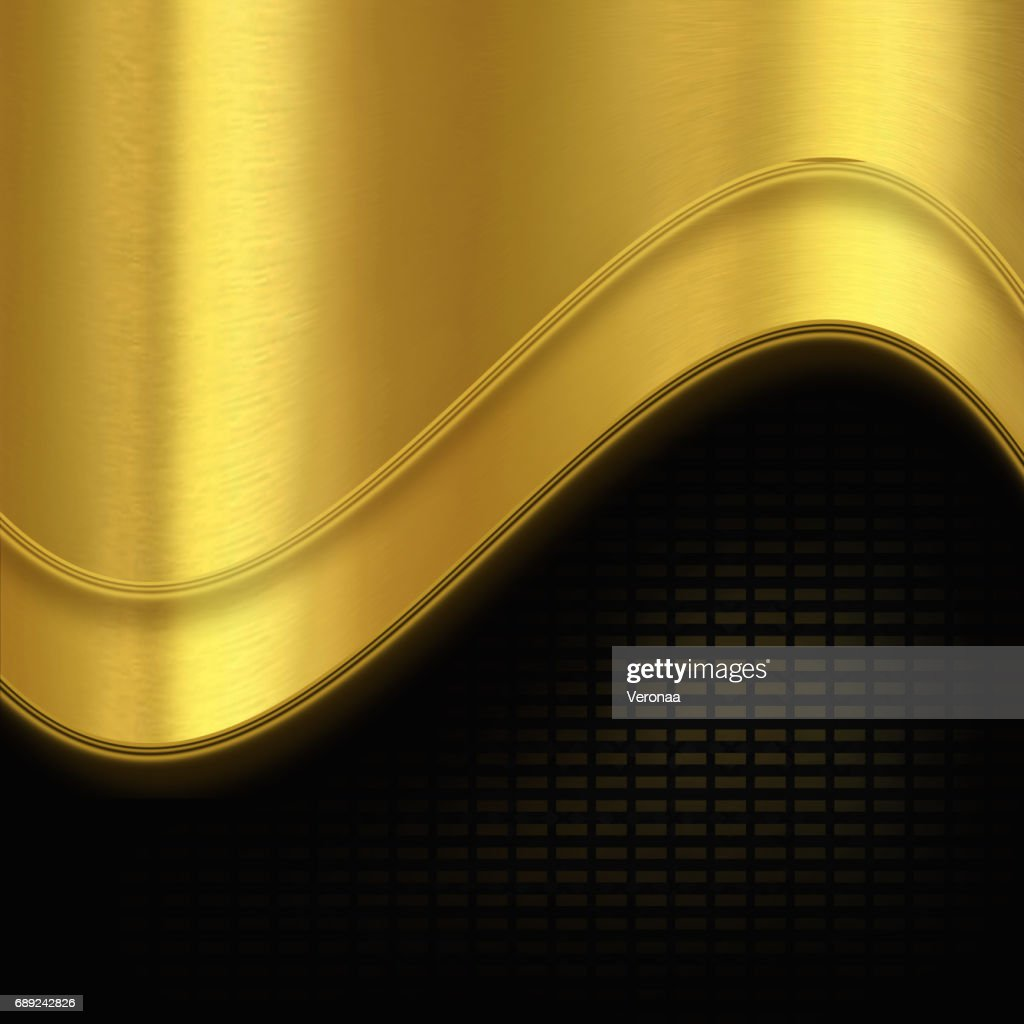 Shiny gold and black background : Stock Illustration