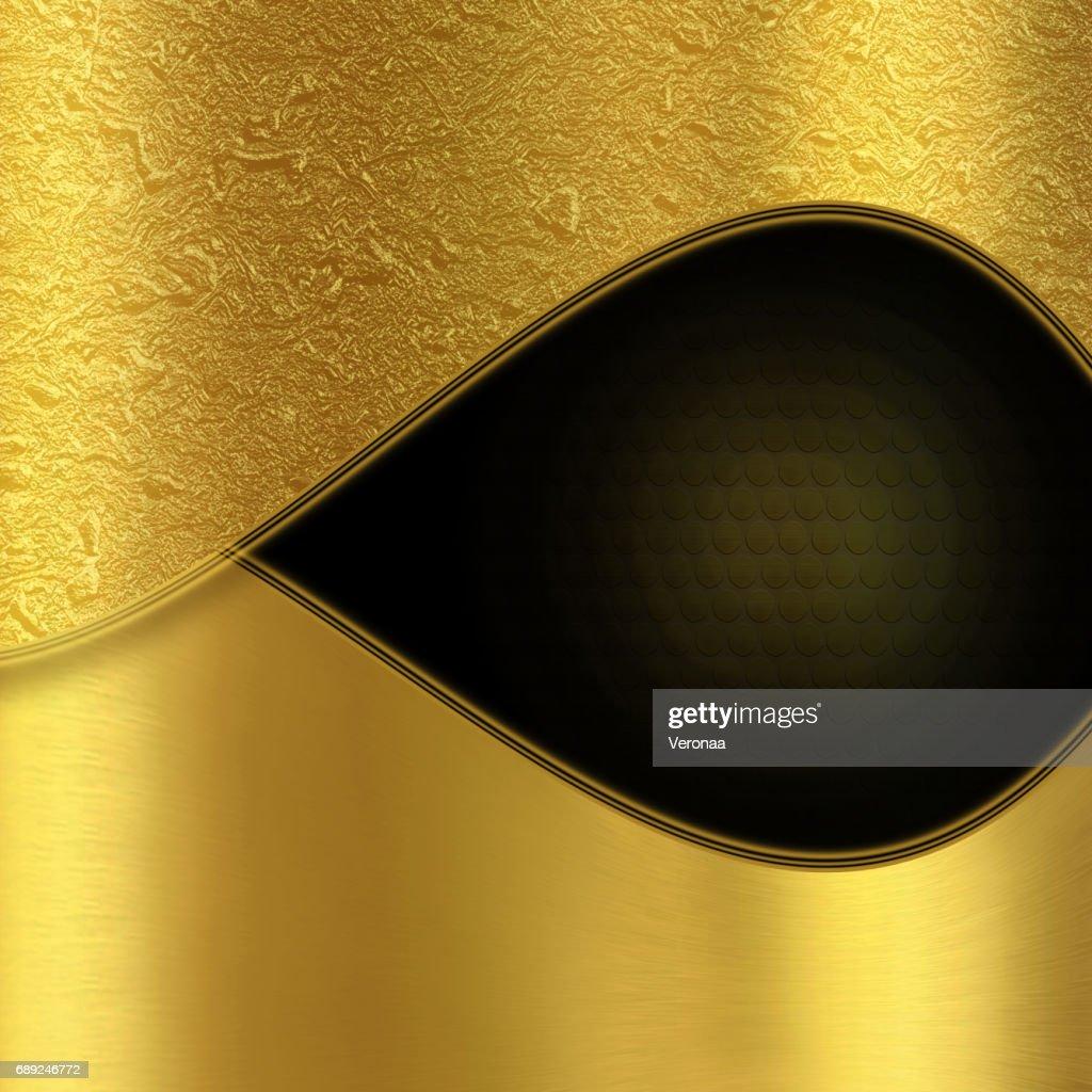 Shiny gold and black background : Stock Illustration