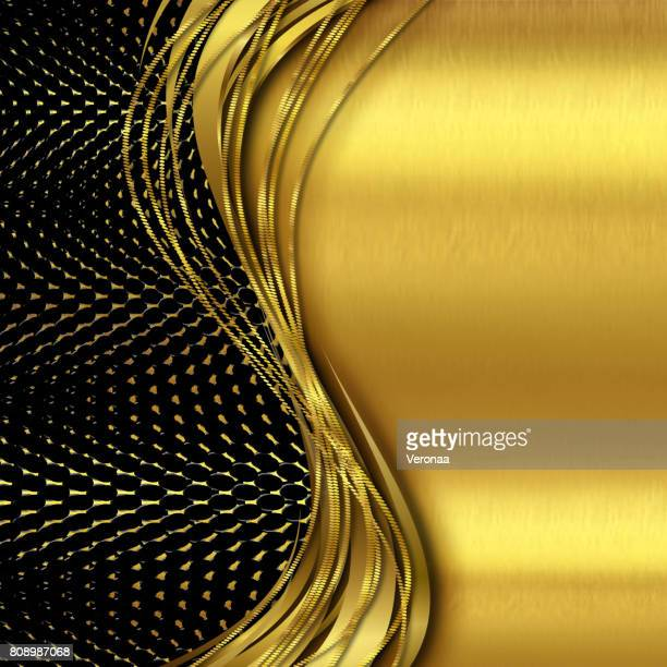 shiny gold and black background - filigree stock illustrations