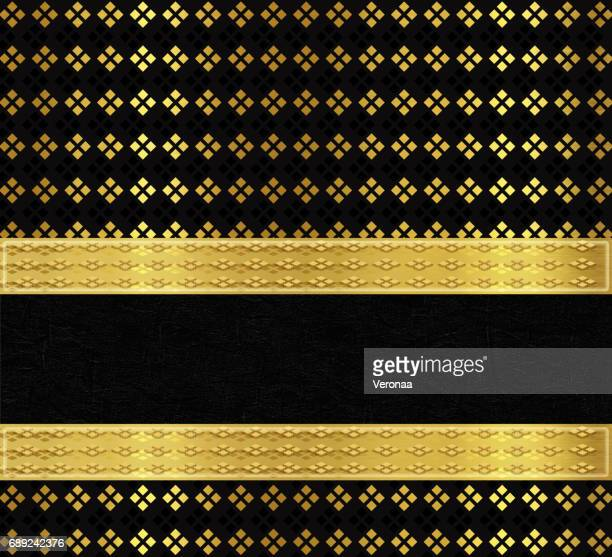 shiny golden and black background with cubes - filigree stock illustrations