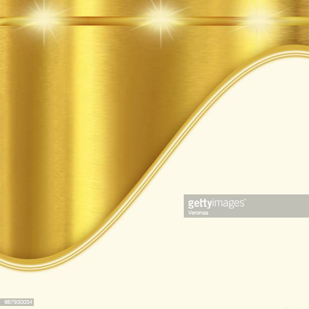 shiny golden and white background with curves - filigree stock illustrations