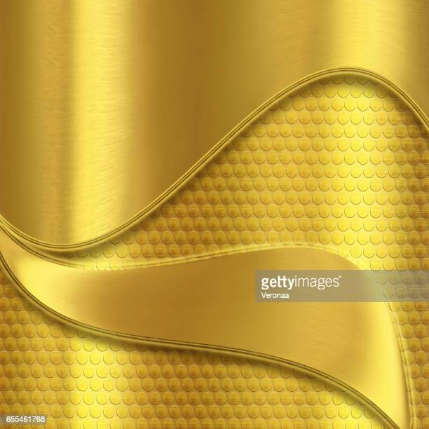 shiny golden background with curves - filigree stock illustrations