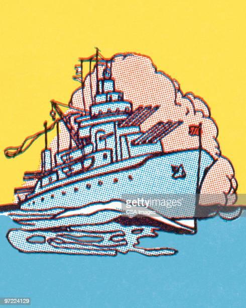 ship - war stock illustrations