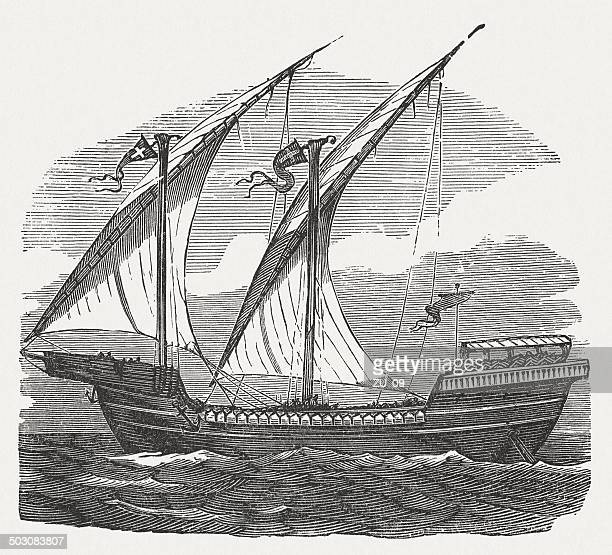 Ship of the French king Louis IX (1214-1270), published 1880
