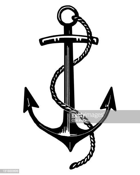 ship's anchor - pirate boat stock illustrations, clip art, cartoons, & icons