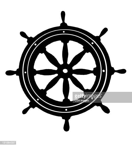 ship's wheel - pirate boat stock illustrations, clip art, cartoons, & icons