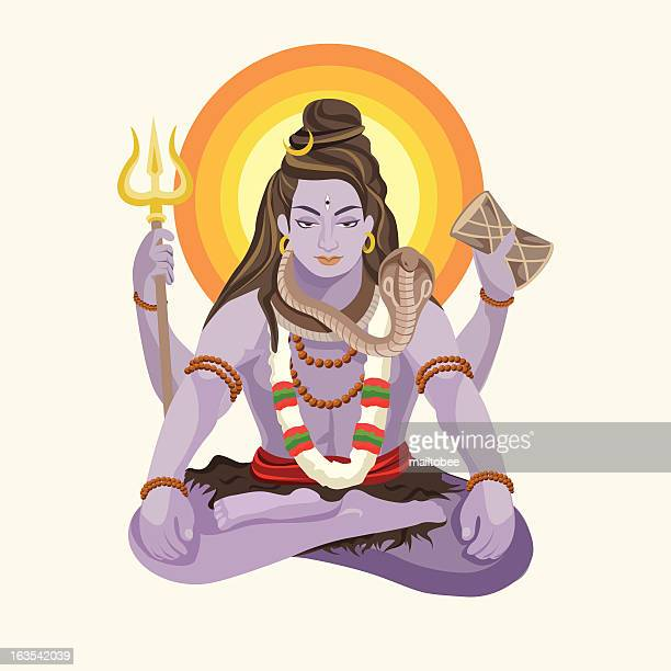 shiva - shiva stock illustrations