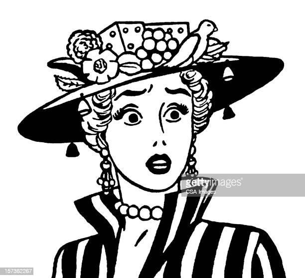 Shocked Woman Wearing Hat