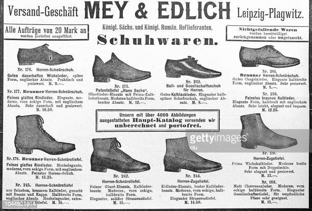 sale retailer clearance sale exclusive shoes Shoe Advertising Of 1897 Mey Edlich Stock Illustration ...