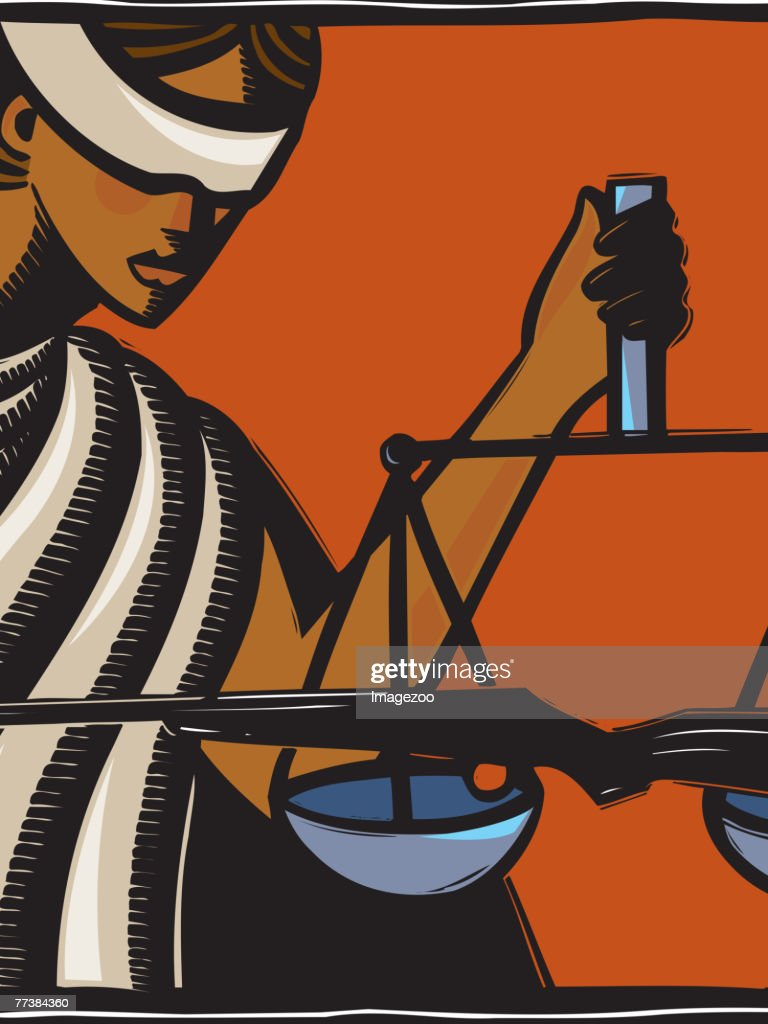 Shooting justice : Stock Illustration