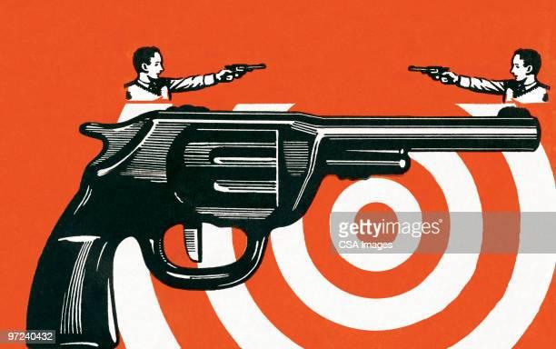 shootout - sports target stock illustrations