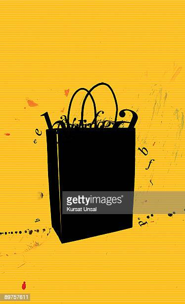 shopping bag - consumerism stock illustrations