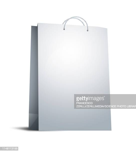 shopping bag, illustration - consumerism stock illustrations