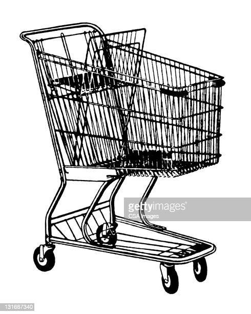 shopping cart - consumerism stock illustrations