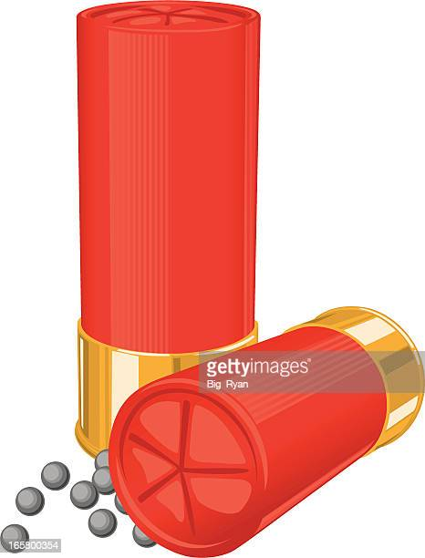 shotgun shells - shotgun stock illustrations
