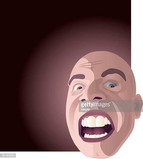 shouting man - balding stock illustrations, clip art, cartoons, & icons