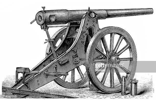 siege artillery - siege stock illustrations