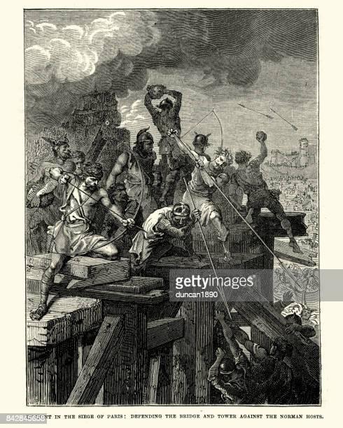 Siege of Paris, defending the bridge and tower