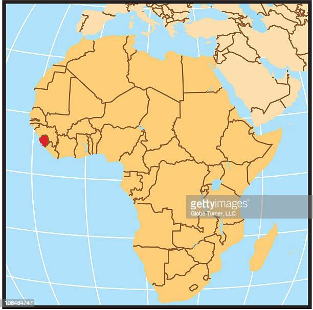 sierra leone locator map - locator map stock illustrations