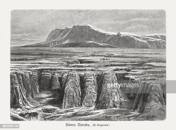 Sierra Nevada, Spain, wood engraving, published in 1897