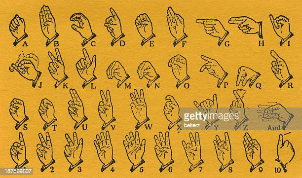 sign language - sign language stock illustrations, clip art, cartoons, & icons